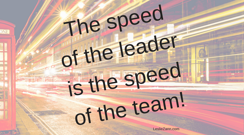 Speed of the team!